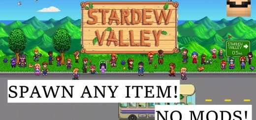 Spawn Items in Stardew Valley